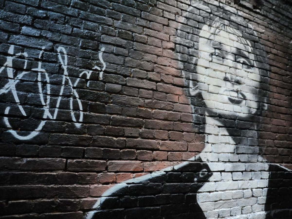Стена памяти Виктора Цоя в Киеве