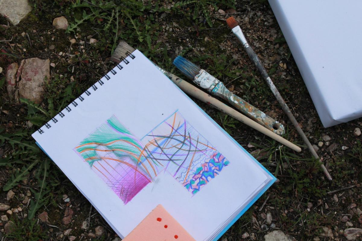 Молодые художники устроили абстрактный пленэр на берегу Ильменя