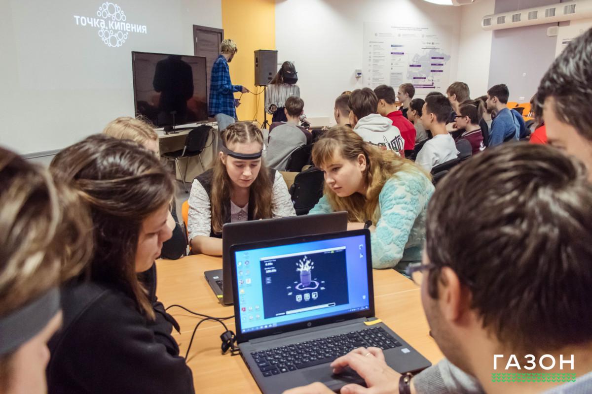 Новгородские школьники под руководством IT-проповедника взорвали бочку силой мысли
